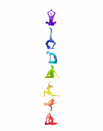 The chakras alignment